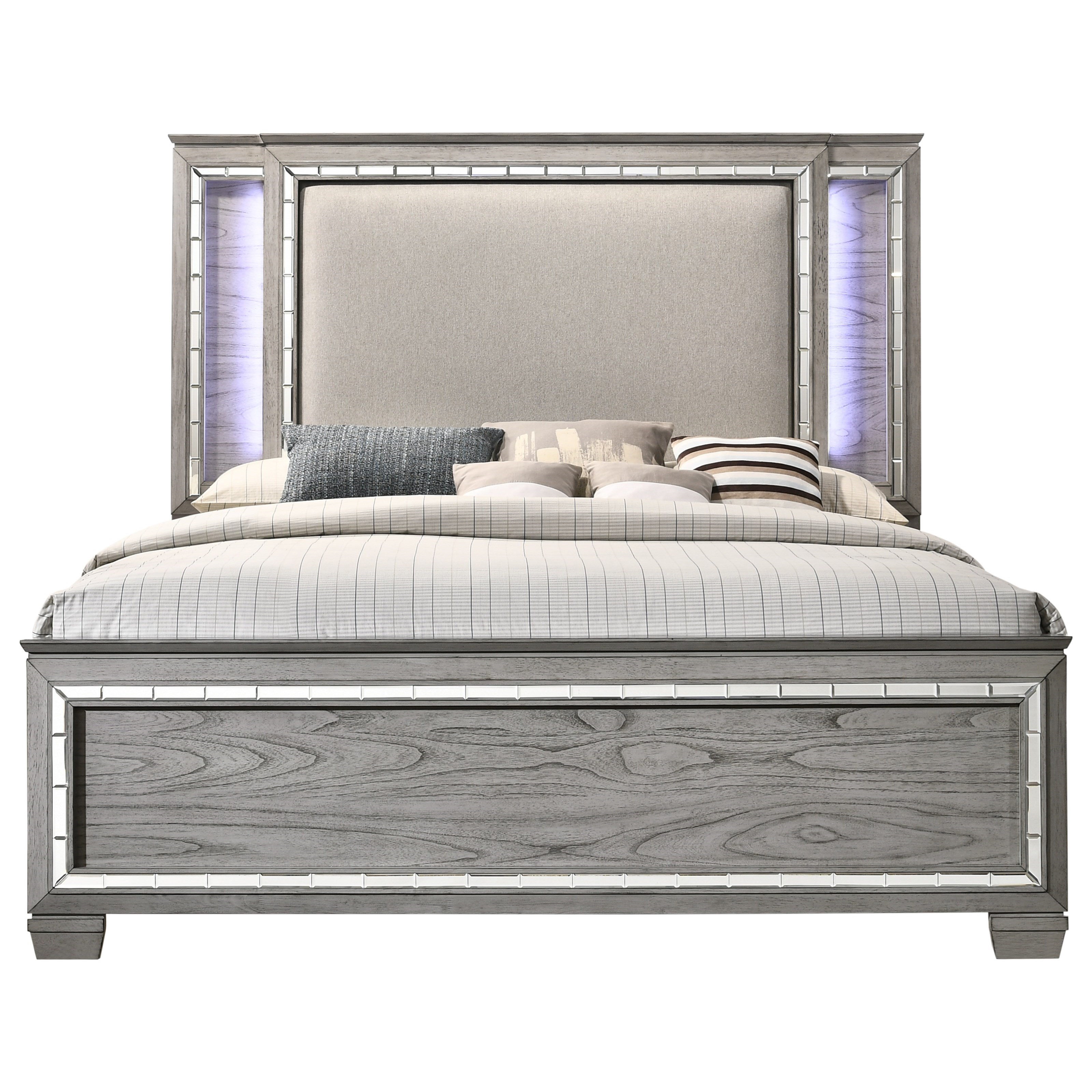 Antares Queen Bed (LED HB) by Acme Furniture at Carolina Direct
