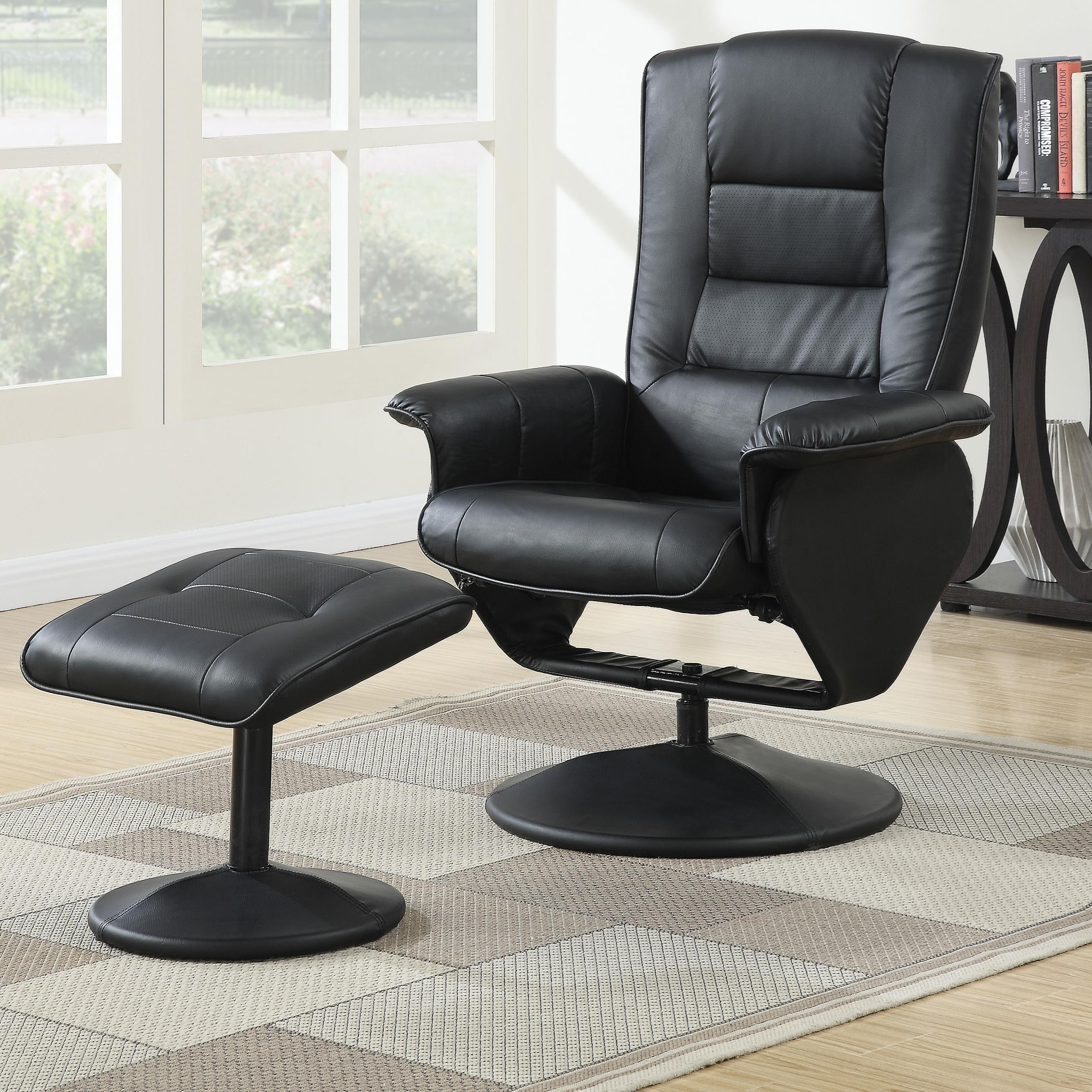Arche Chair & Ottoman Set by Acme Furniture at Carolina Direct