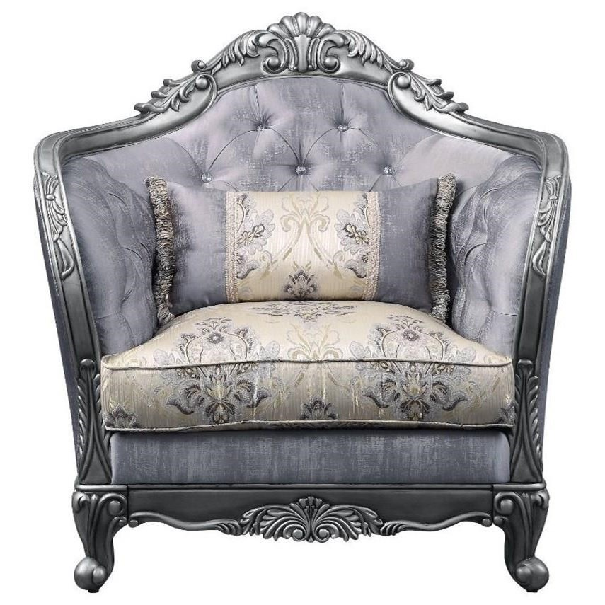 Ariadne Chair w/1 Pillow by Acme Furniture at Carolina Direct