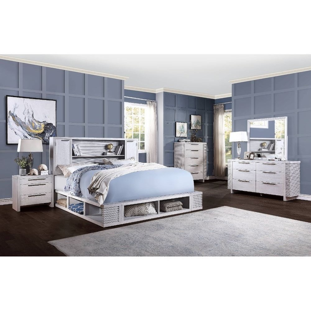 Aromas Queen Bedroom Group by Acme Furniture at Carolina Direct