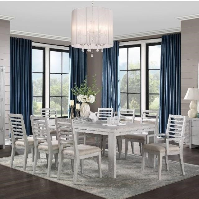 Aromas 9-Piece Table and Chair Set by Acme Furniture at Carolina Direct