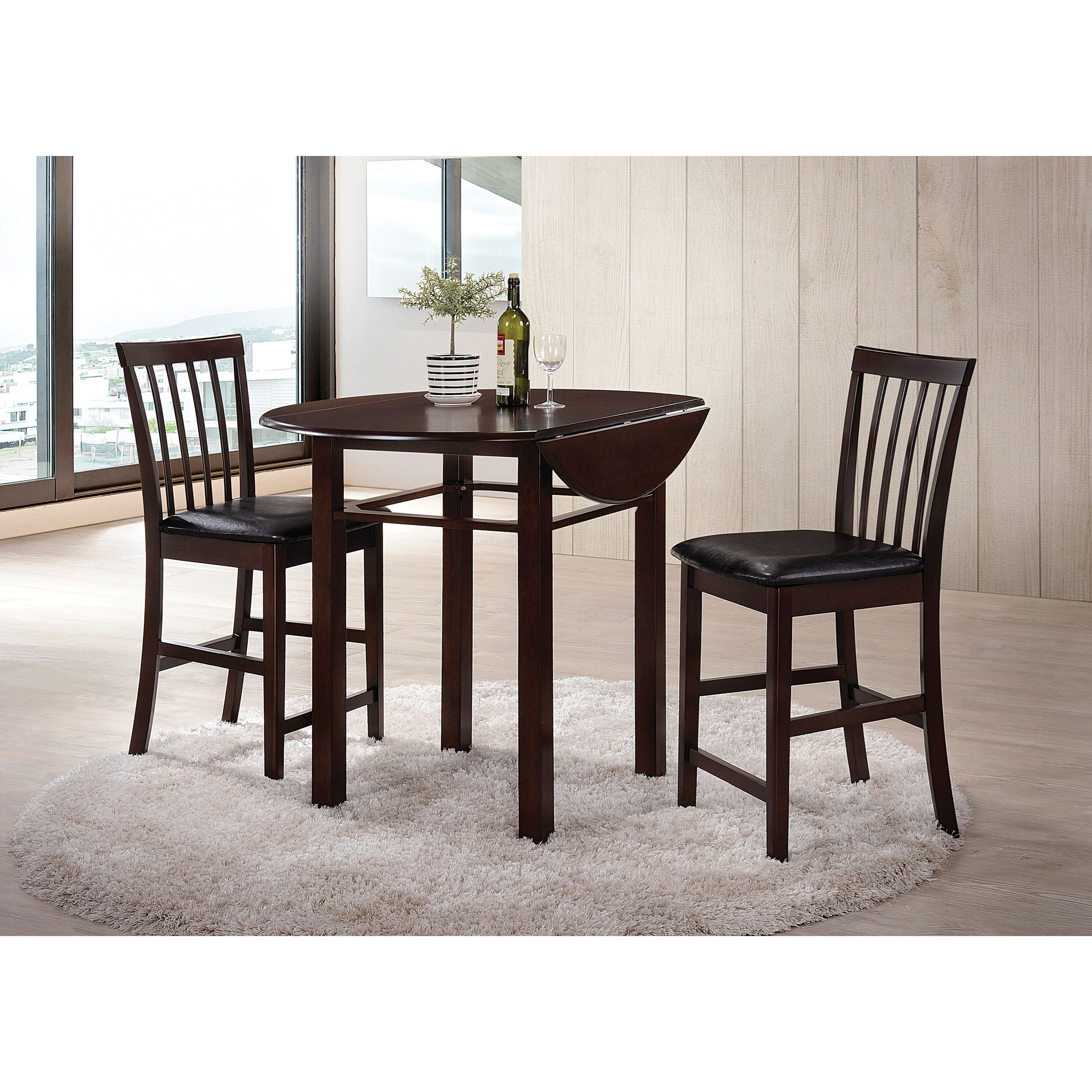 Artie Counter Height Dining Set with 2 Chairs by Acme Furniture at Carolina Direct