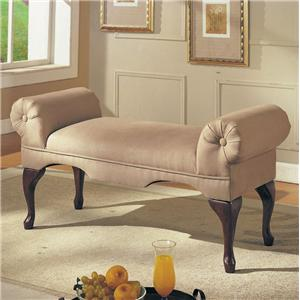 Acme Furniture Aston Rolled Arm Bench