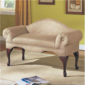 Acme Furniture Aston Rolled-Arm Bench