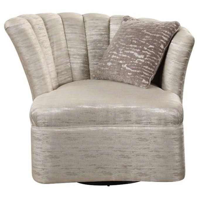 Athalia Swivel Chair w/1 Pillow by Acme Furniture at Carolina Direct