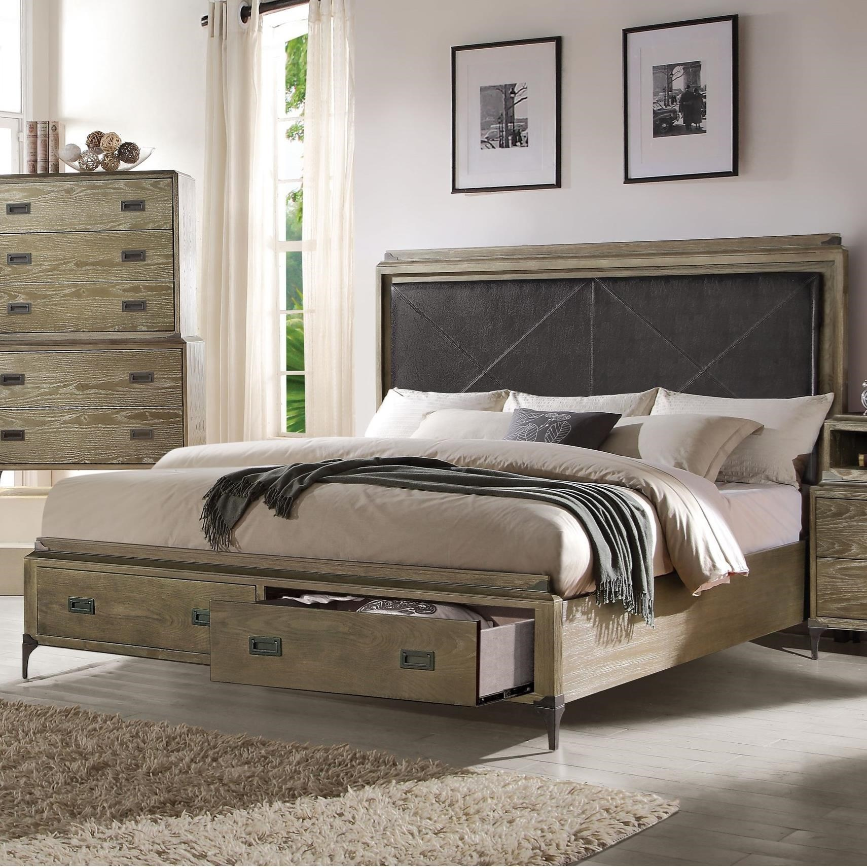 Athouman Queen Bed w/Storage by Acme Furniture at Carolina Direct