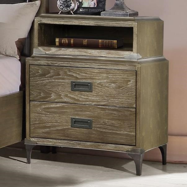 Athouman Nightstand (USB Charging Dock) by Acme Furniture at Carolina Direct