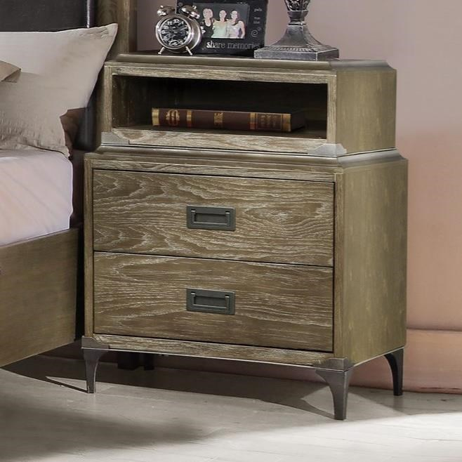 Athouman Nightstand (Qi Wireless Dock) by Acme Furniture at Carolina Direct