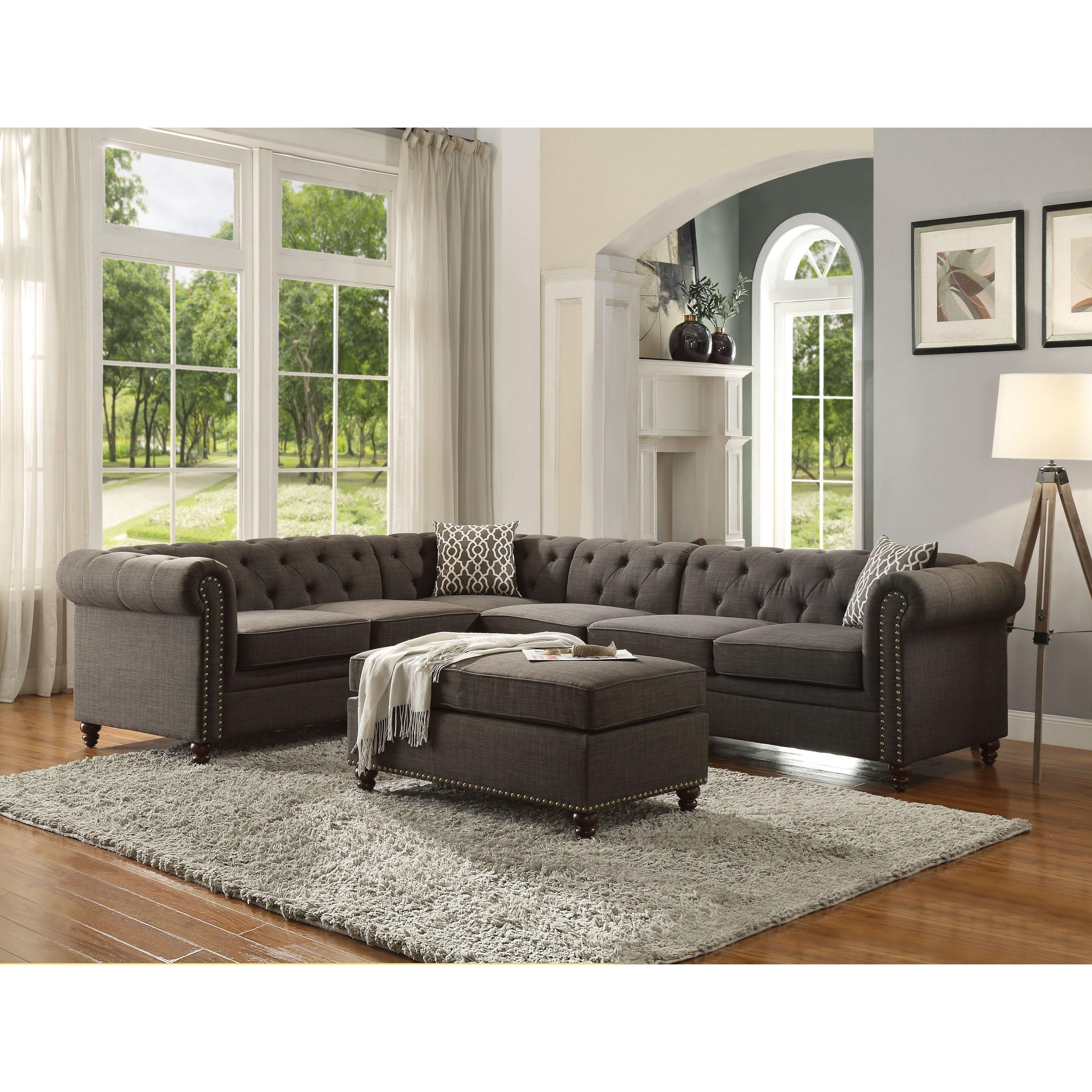 Aurelia II Sectional Sofa by Acme Furniture at Carolina Direct