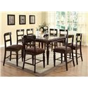 Acme Furniture Bandele Casual Counter Height Dining Table - Shown with Side Chairs