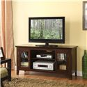 Acme Furniture Banee Espresso 2 Door TV Stand with 6 Shelves - Shown in Room Setting