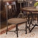 Acme Furniture Barrie 5 Piece Round Table & Upholstered Chair Set - Side Chair Shown