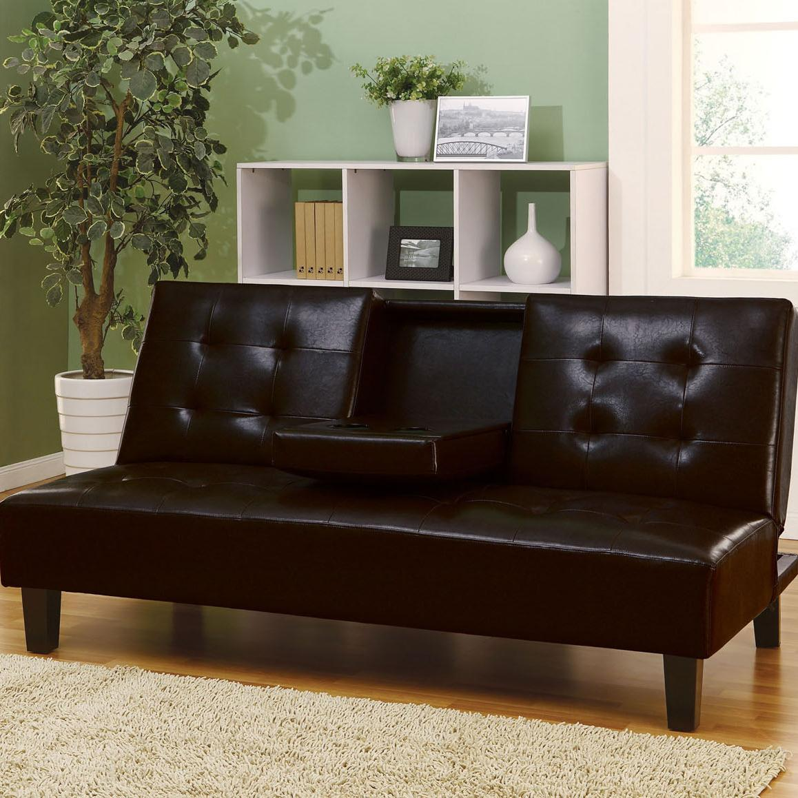 Acme Furniture Barron Adjustable Sofa with Cup Holders - Item Number: 05641