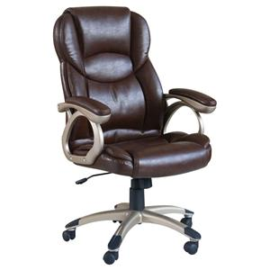 Brown Bycast Pu Office Chair W/Pneaumatic
