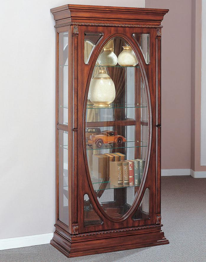 Acme Furniture Becka Cherry Curio Cabinet - Item Number: 90052