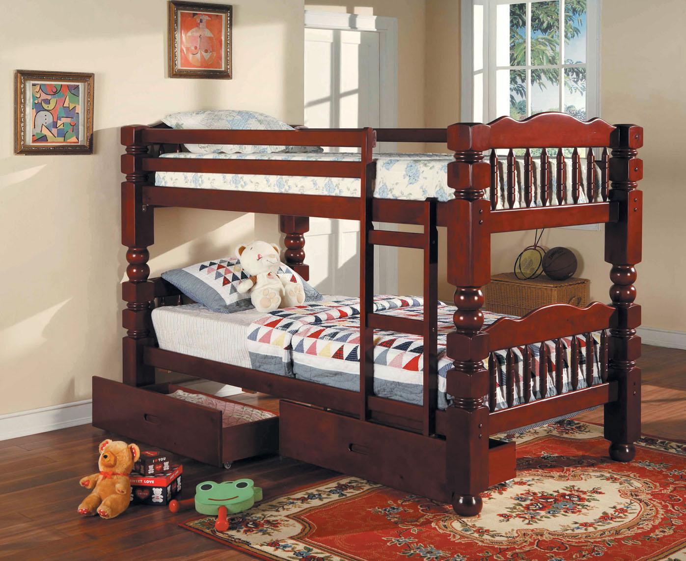 Acme Furniture Benji Twin Bunkbed w/ Storage Drawers - Item Number: 02570 STORAGE