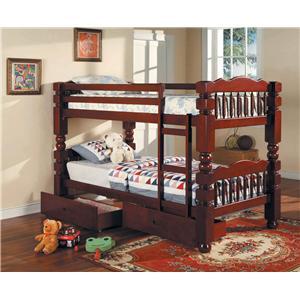 Acme Furniture Benji Twin Bunkbed w/ Storage Drawers