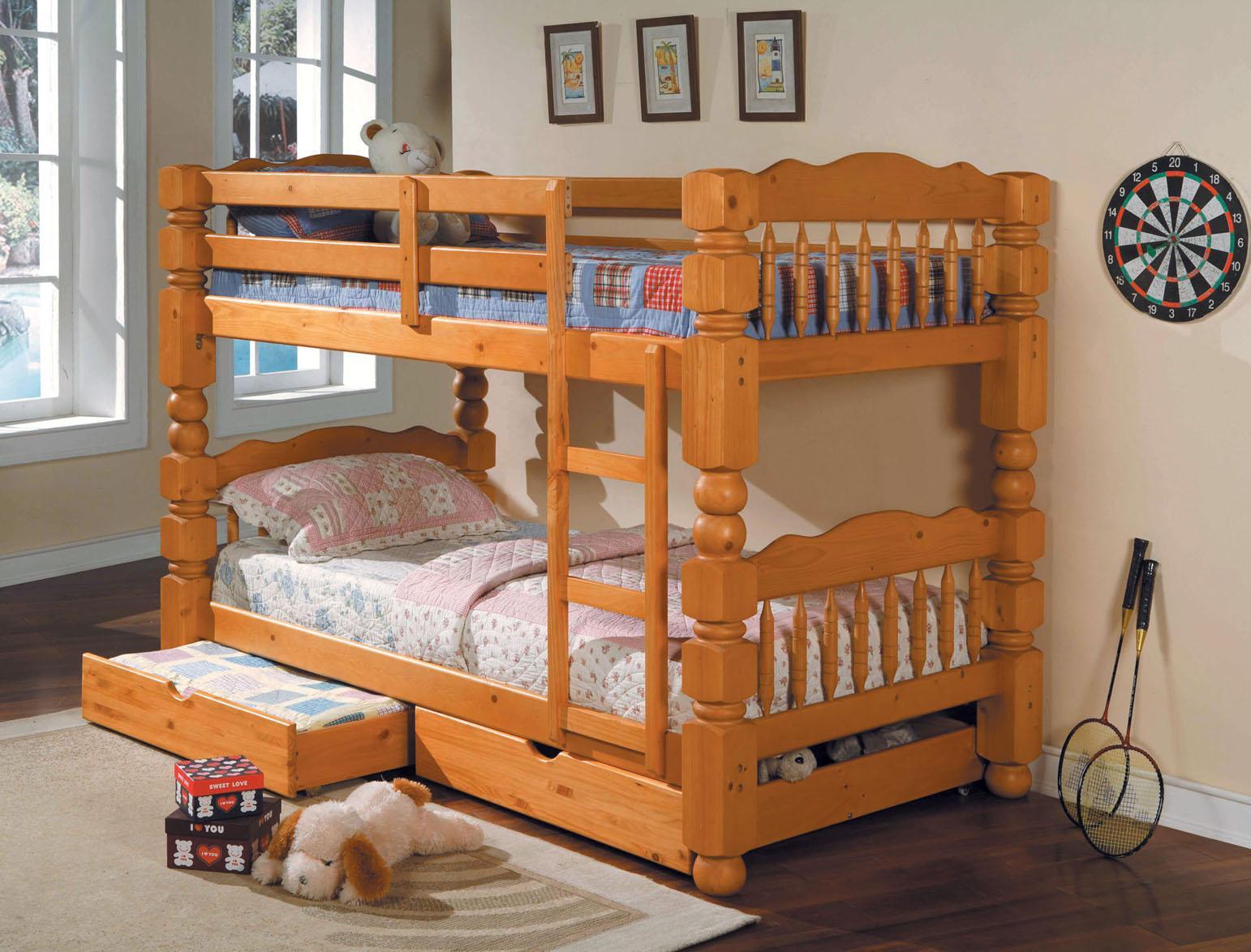 Acme Furniture Benji Twin Bunkbed w/ Storage Drawers - Item Number: 02575 STORAGE