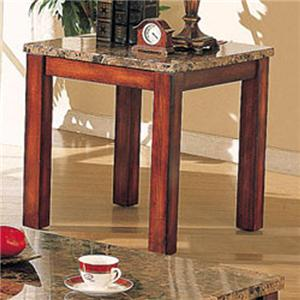 Acme Furniture Bologna Marble End Table