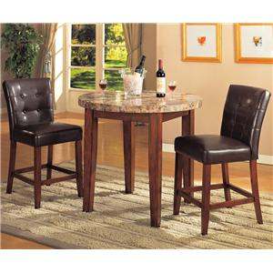 Acme Furniture Bologna Counter Height Table and Chairs Set