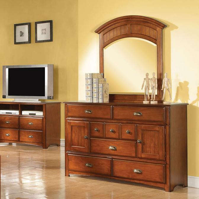 Acme Furniture Brandon Dresser and Mirror Combo - Item Number: 11015+11014