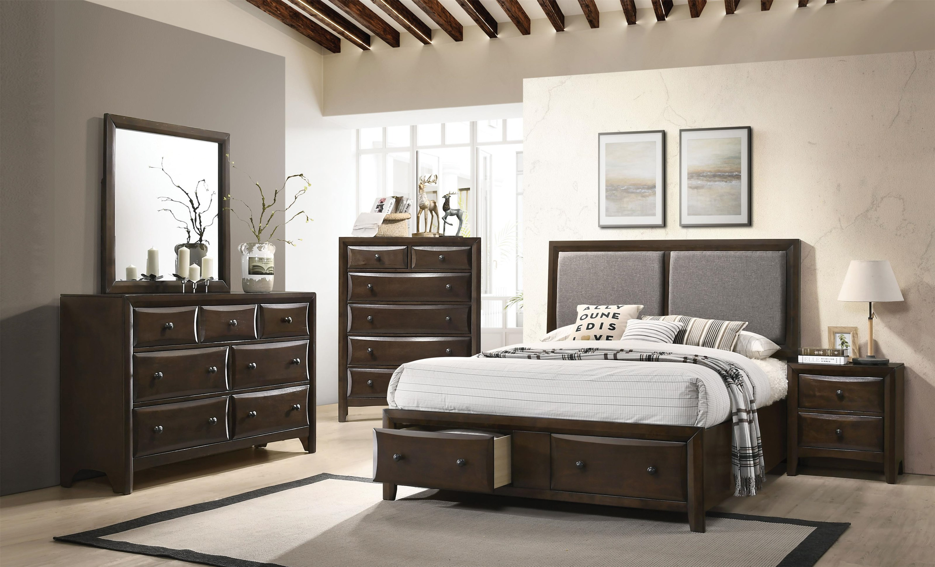 Acme Furniture Brenta 26670q 45 44 43 Transitional Queen Bed