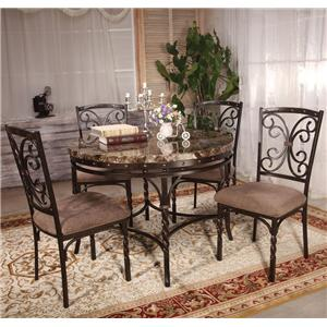 Acme Furniture Burril 5 Piece Dining Set