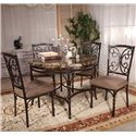 Acme Furniture Burril 5 Piece Dining Set - Item Number: 70584+4x70586