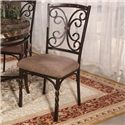 Acme Furniture Burril 5 Piece Dining Set with Faux Marble Top - Set Includes Four Dining Side Chairs