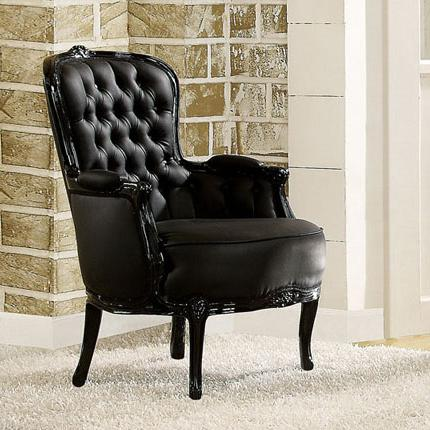 Acme Furniture Cain Black Accent Chair - Item Number: 59148