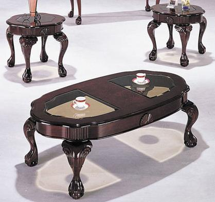 Acme Furniture Canebury Cherry Three-Piece Occasional Set - Item Number: 08195