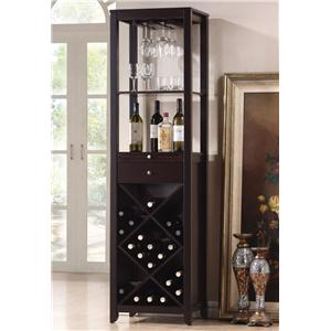 Acme Furniture Casey Wenge Wine Cabinet Tower