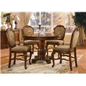 Acme Furniture Chateau De Ville Fabric Upholstered Shield Back Counter Height Dining Chair - Shown with Counter Height Table