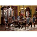 Acme Furniture Chateau De Ville Shield Back Dining Arm Chair With Faux Leather Seat And Back - Shown with Dining Table, Side Chair, Buffet and Hutch