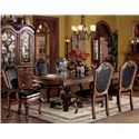 Acme Furniture Chateau De Ville 7 Piece Formal Dining Set - Item Number: 4076ST+4075T+2x10039+4x10038
