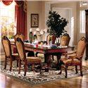 Acme Furniture Chateau De Ville 7 Piece Formal Dining Set - Item Number: 4076ST+4075T+2X4078+4X4077