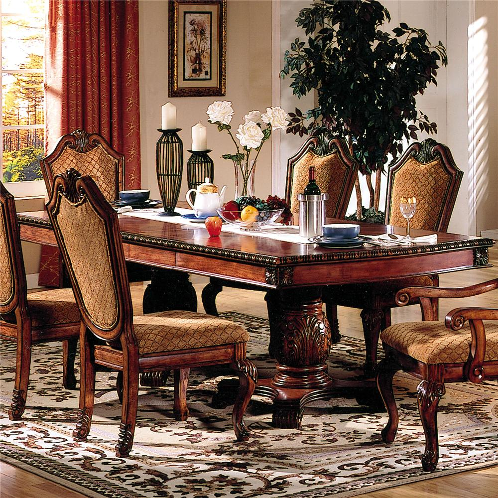 Acme Furniture Chateau De Ville Dining Table - Item Number: 4076ST+4075T