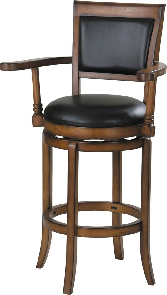 Acme Furniture Chelsea Swivel Barstool W/Armrest - Item Number: 07031
