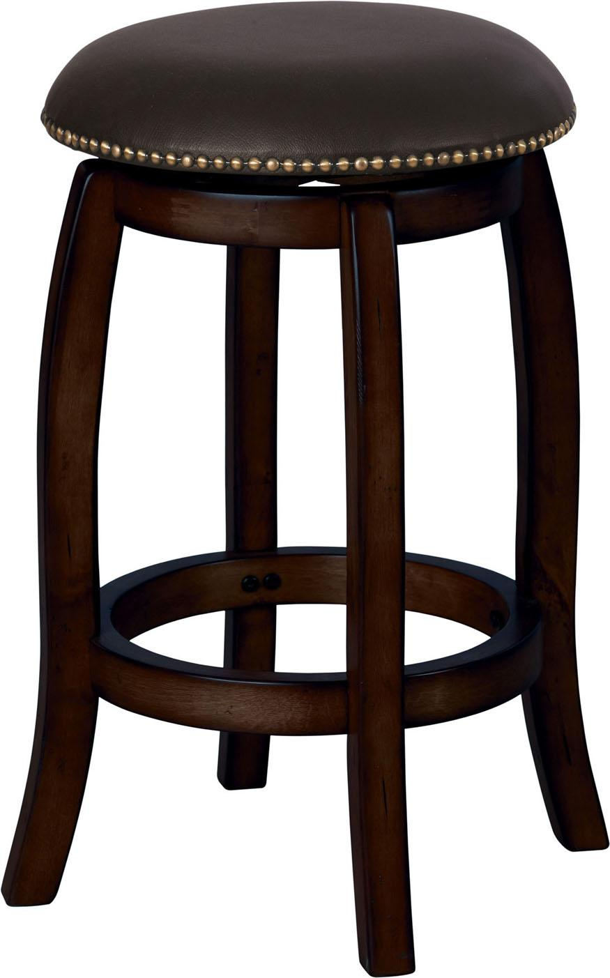 Acme Furniture Chelsea Leather Swivel Counter Stool - Item Number: 07246