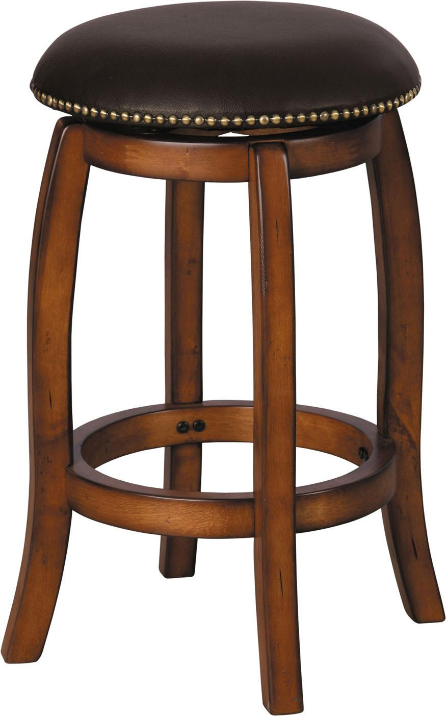 Acme Furniture Chelsea Leather Swivel Counter Stool - Item Number: 07247