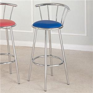 Acme Furniture Cucina Chrome Swivel Bar Stool (Blue)