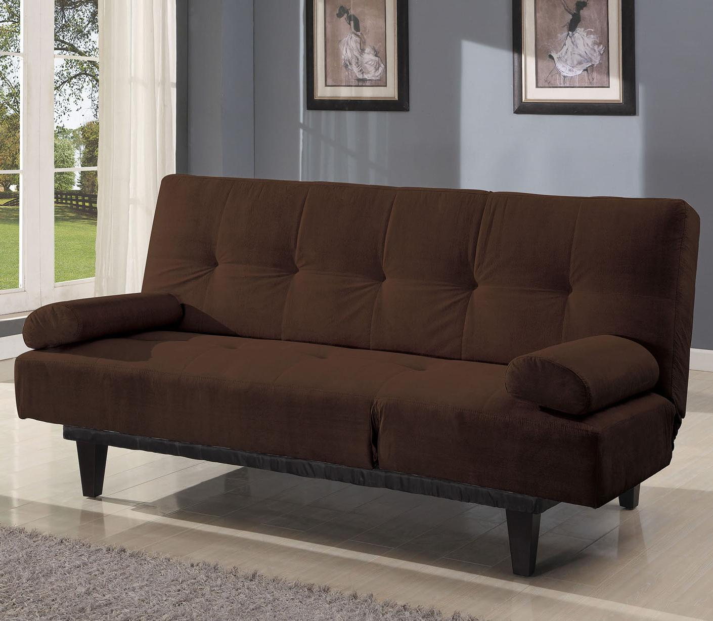 Acme Furniture Cybil  Brown Adjustable Sofa With 2 Pillows - Item Number: 05855W-BR