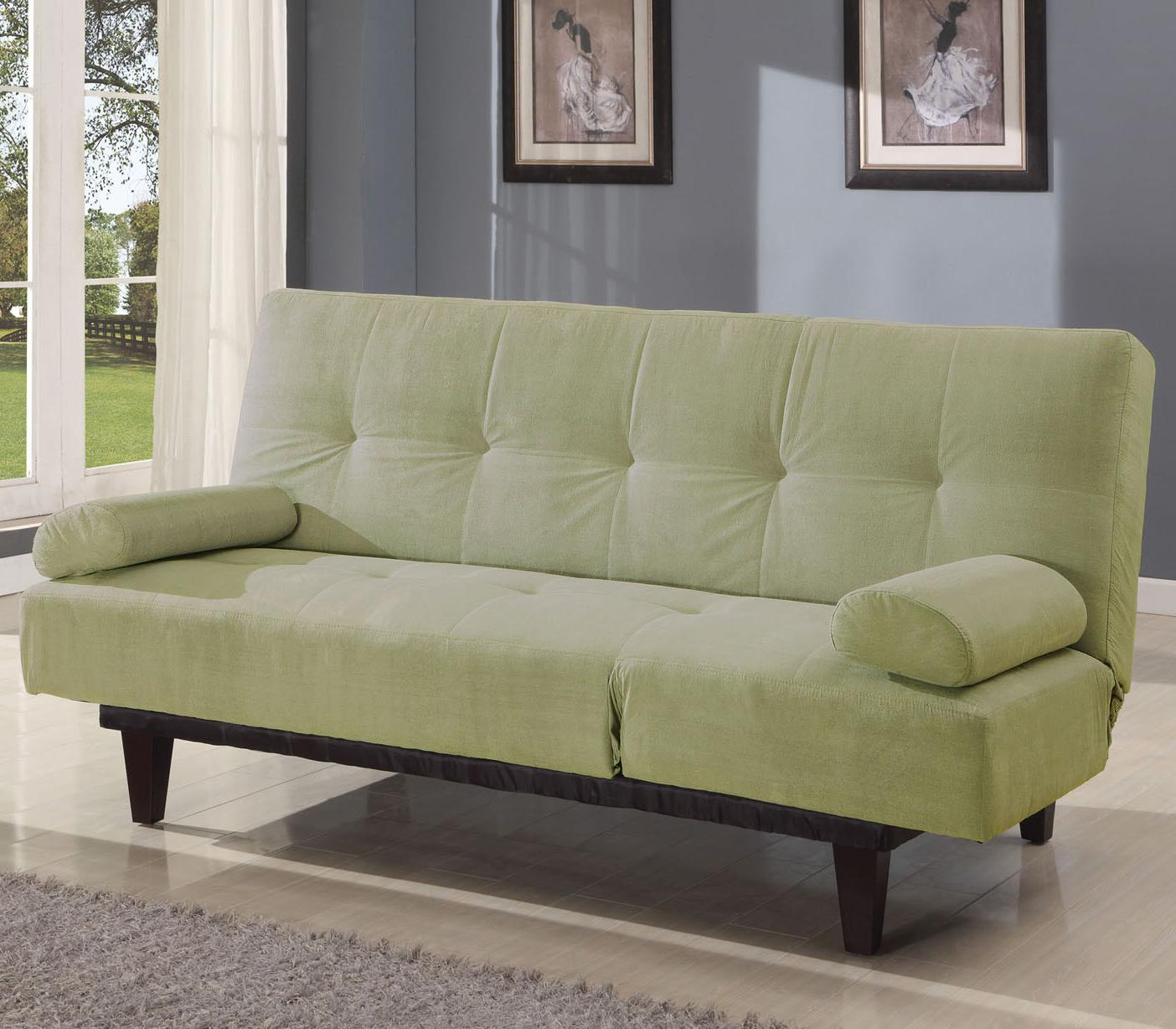 Acme Furniture Cybil Apple Green Adjustable Sofa With 2 Pillows - Item Number: 05855W-SA