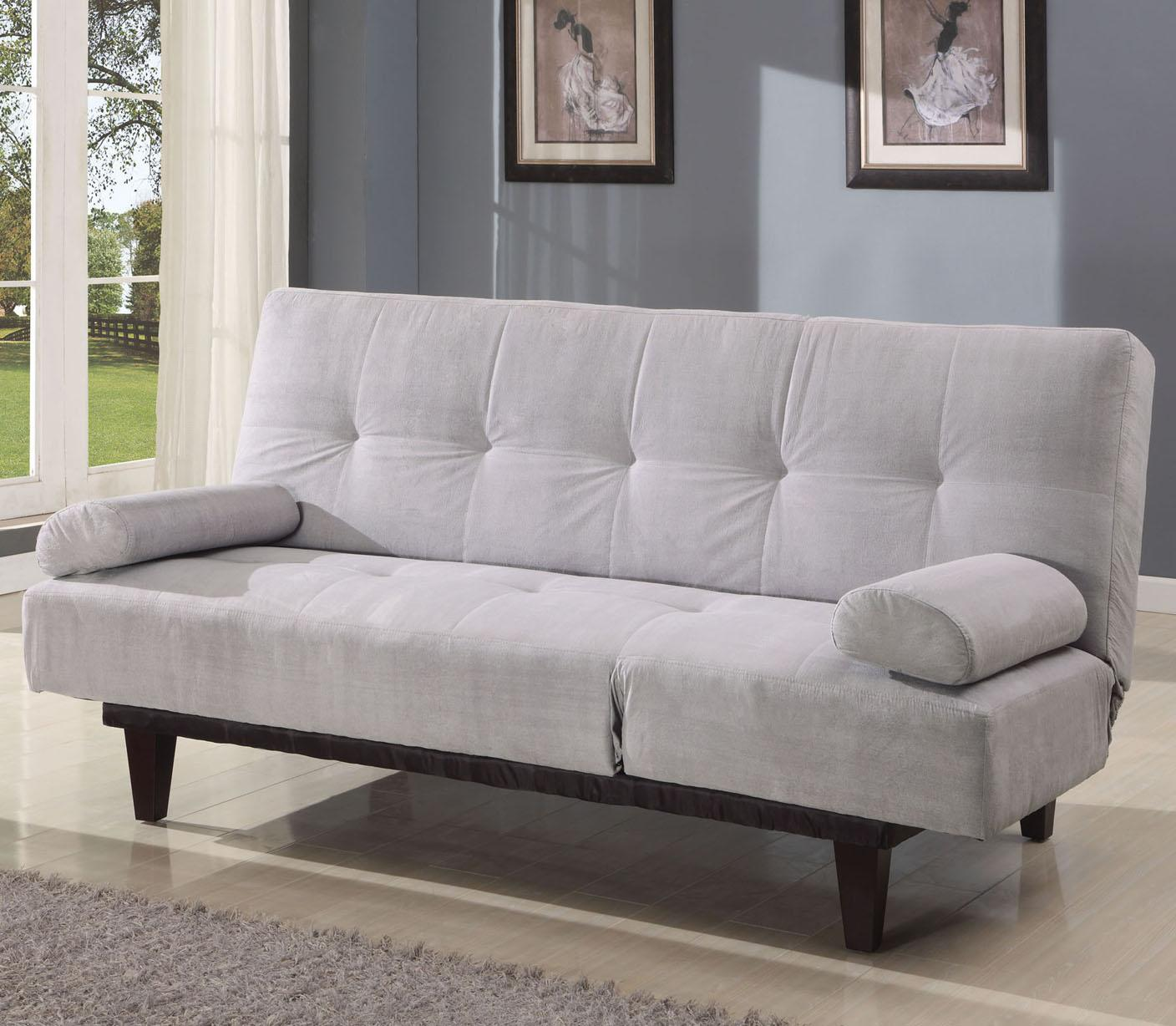 Acme Furniture Cybil  Silver Adjustable Sofa With 2 Pillows - Item Number: 05855W-SI