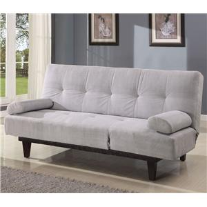 Silver Adjule Sofa With 2 Pillows