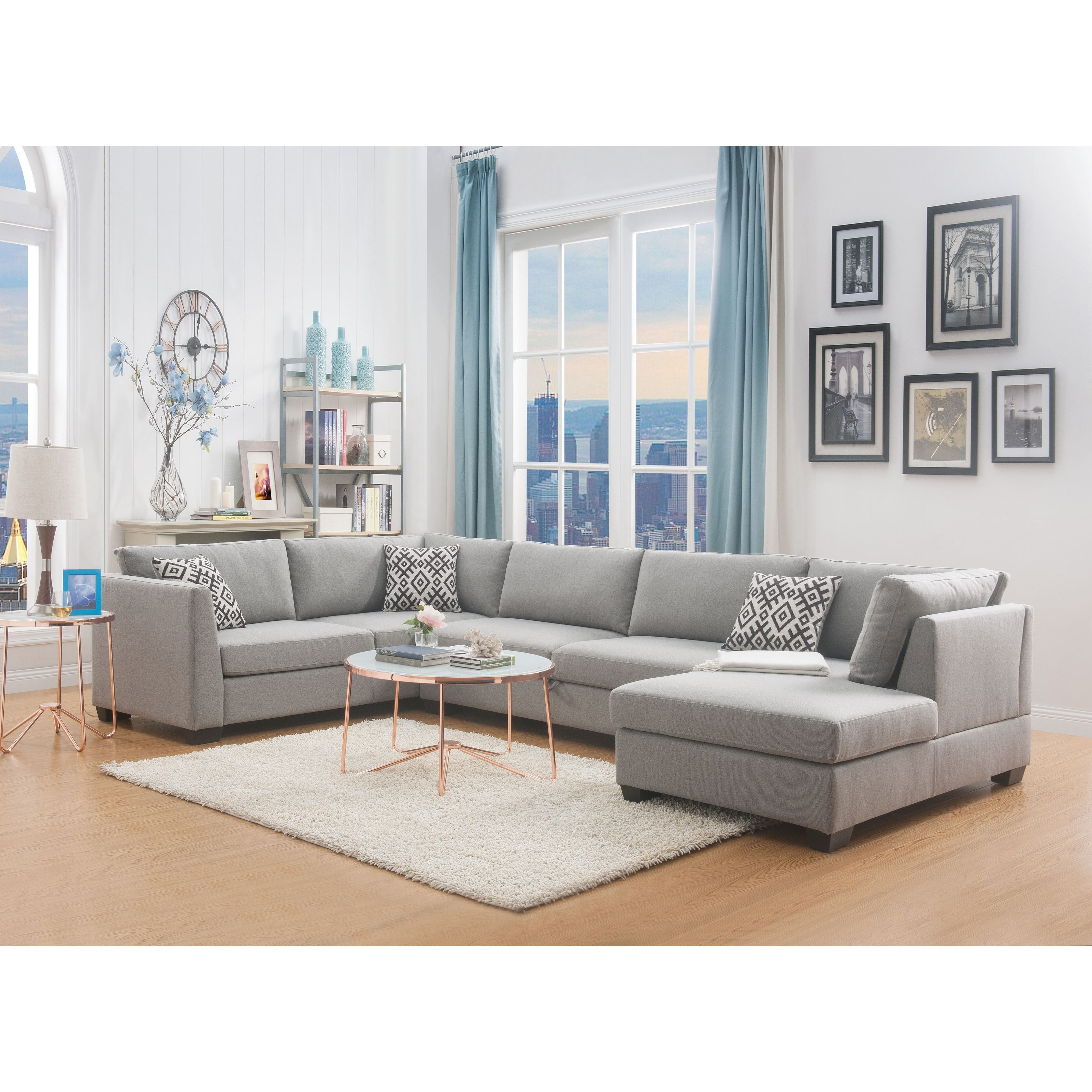 Enjoyable Acme Furniture Cyclamen 53105 Contemporary 4 Seat Sectional Bralicious Painted Fabric Chair Ideas Braliciousco
