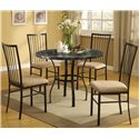 Acme Furniture Darell 5-Piece Faux Marble Dining Set - Item Number: 70495