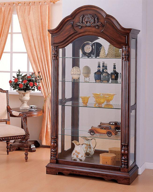 Acme Furniture Deton Cherry Curio Cabinet - Item Number: 90054