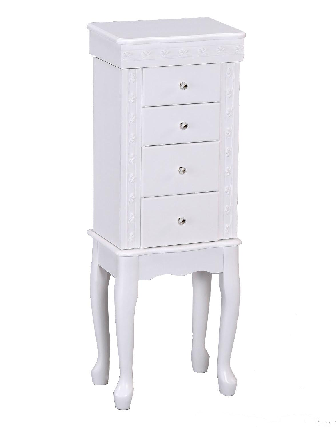 Acme Furniture Didi White Jewelry Armoire - Item Number: 97004