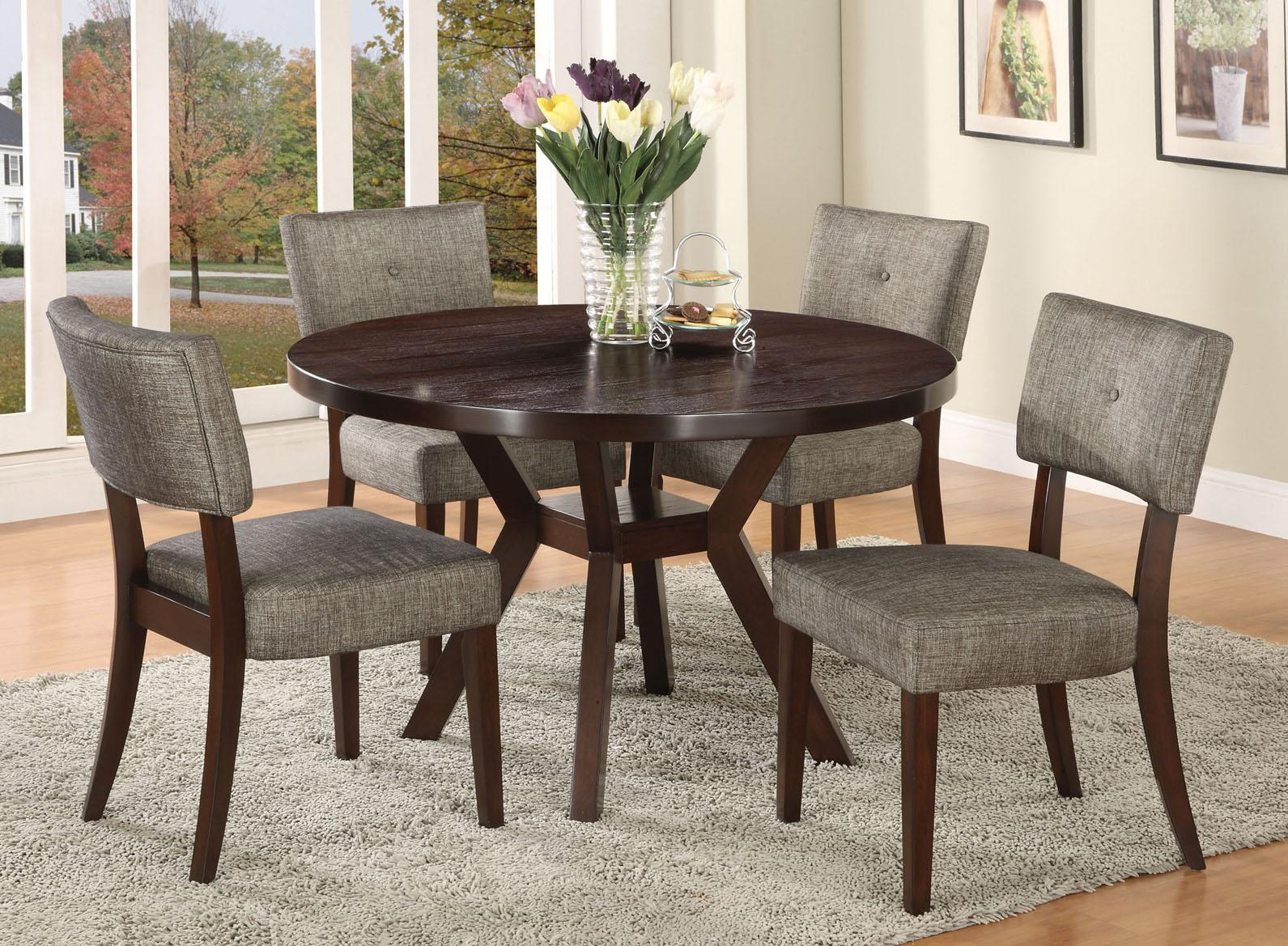 4 Chair Dining Sets acme furniture drake espresso 5 piece modern dining set